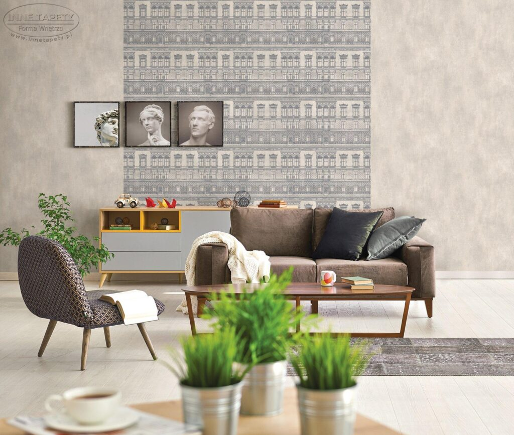 alta gamma loft 3602 1024x867 Nowoczesne pomysły na tapetę w salonie